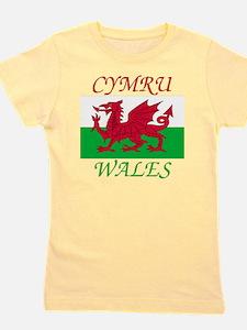 Wales-Cymru Girl's Tee
