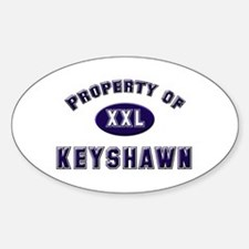 Property of keyshawn Oval Decal
