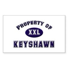 Property of keyshawn Rectangle Decal