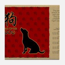 czodiac-11-dog Tile Coaster