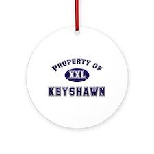 Property of keyshawn Ornament (Round)