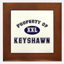 Property of keyshawn Framed Tile