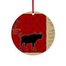 czodiac-02-ox Round Ornament