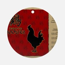 czodiac-10-rooster Round Ornament