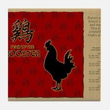 czodiac-10-rooster Tile Coaster