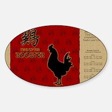 czodiac-10-rooster Sticker (Oval)