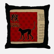 czodiac-09-monkey Throw Pillow