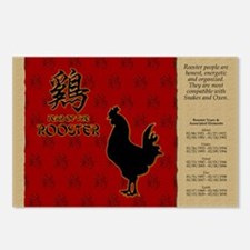 czodiac-10-rooster Postcards (Package of 8)