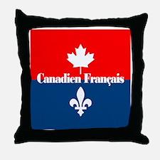Canadien Francais (sq) Throw Pillow