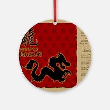 czodiac-05-dragon Round Ornament