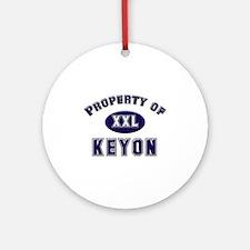 Property of keyon Ornament (Round)