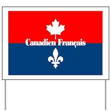 Canadien Francais (card) Yard Sign