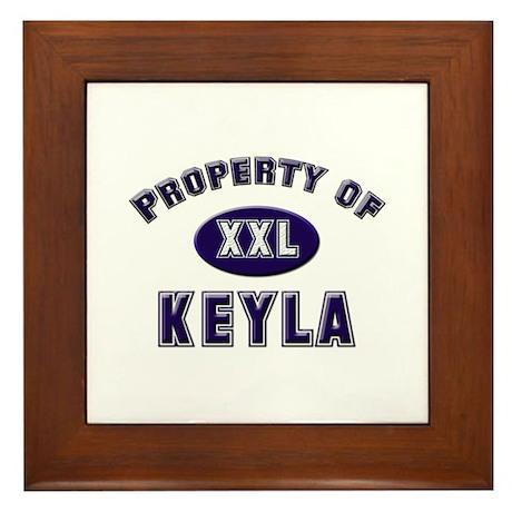 Property of keyla Framed Tile