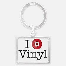 I Heart Vinyl Landscape Keychain