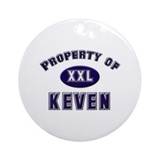 Property of keven Ornament (Round)