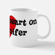 Heart on for Jenifer Mug