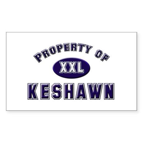 Property of keshawn Rectangle Sticker