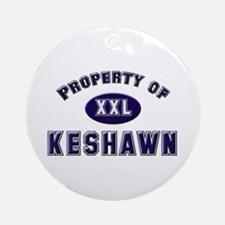 Property of keshawn Ornament (Round)
