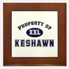 Property of keshawn Framed Tile