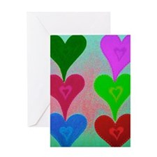 Touching Hearts Violet 23x35 Greeting Card
