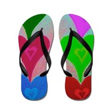 Touching Hearts Violet 23x35 Flip Flops