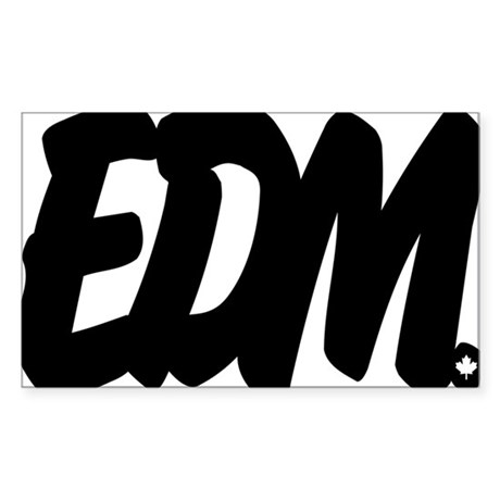 EDM Brushed W Sticker (Rectangle)
