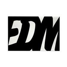 EDM Brushed W Rectangle Magnet