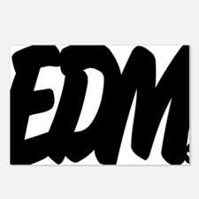EDM Brushed W Postcards (Package of 8)