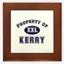 Property of kerry Framed Tile