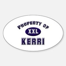 Property of kerri Oval Decal