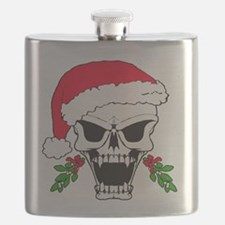Santa skull Flask