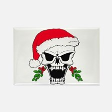 Santa skull Rectangle Magnet