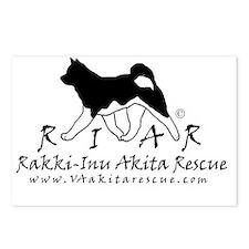Rakki-Inu AKita Rescue lo Postcards (Package of 8)