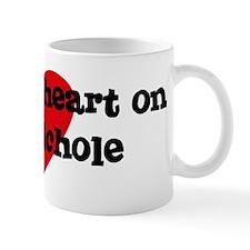 Heart on for Nichole Mug