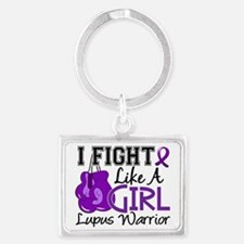 Fight Like A Girl Lupus 15.2 Landscape Keychain