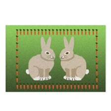 rabbits 7.5x5 Postcards (Package of 8)