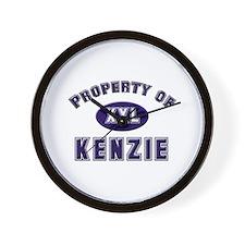 Property of kenzie Wall Clock