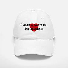 Heart on for Michelle Baseball Baseball Cap