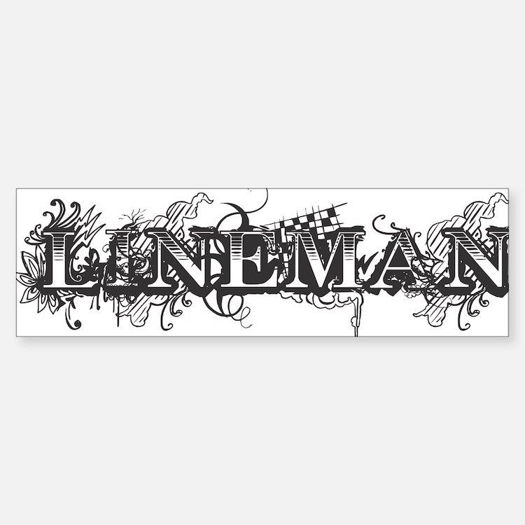 lineman logo 2011_2 Bumper Bumper Sticker