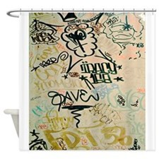 NYC Graffiti Shower Curtain