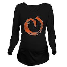 large aikikai peach Long Sleeve Maternity T-Shirt