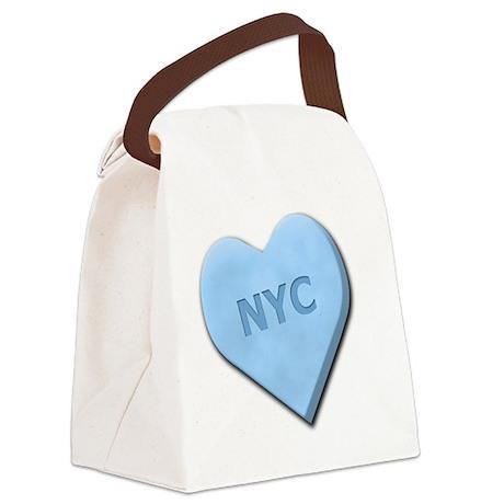 SWEETHEARTNYCBLUE Canvas Lunch Bag