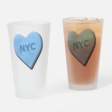 SWEETHEARTNYCBLUE Drinking Glass