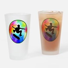 skater tie-dye Drinking Glass