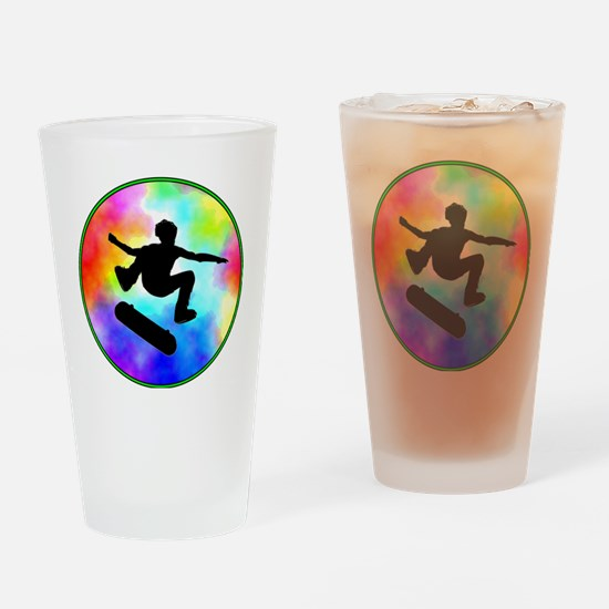skater tie-dye Drinking Glass
