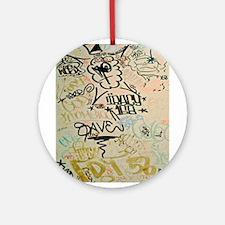 NYC Graffiti Ornament (Round)