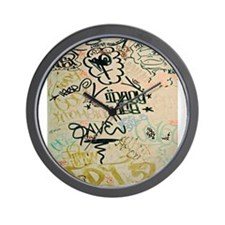 NYC Graffiti Wall Clock
