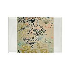 NYC Graffiti Rectangle Magnet
