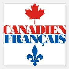 """Canadien Francais 5 Square Car Magnet 3"""" x 3"""""""