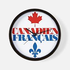 Canadien Francais 5 Wall Clock